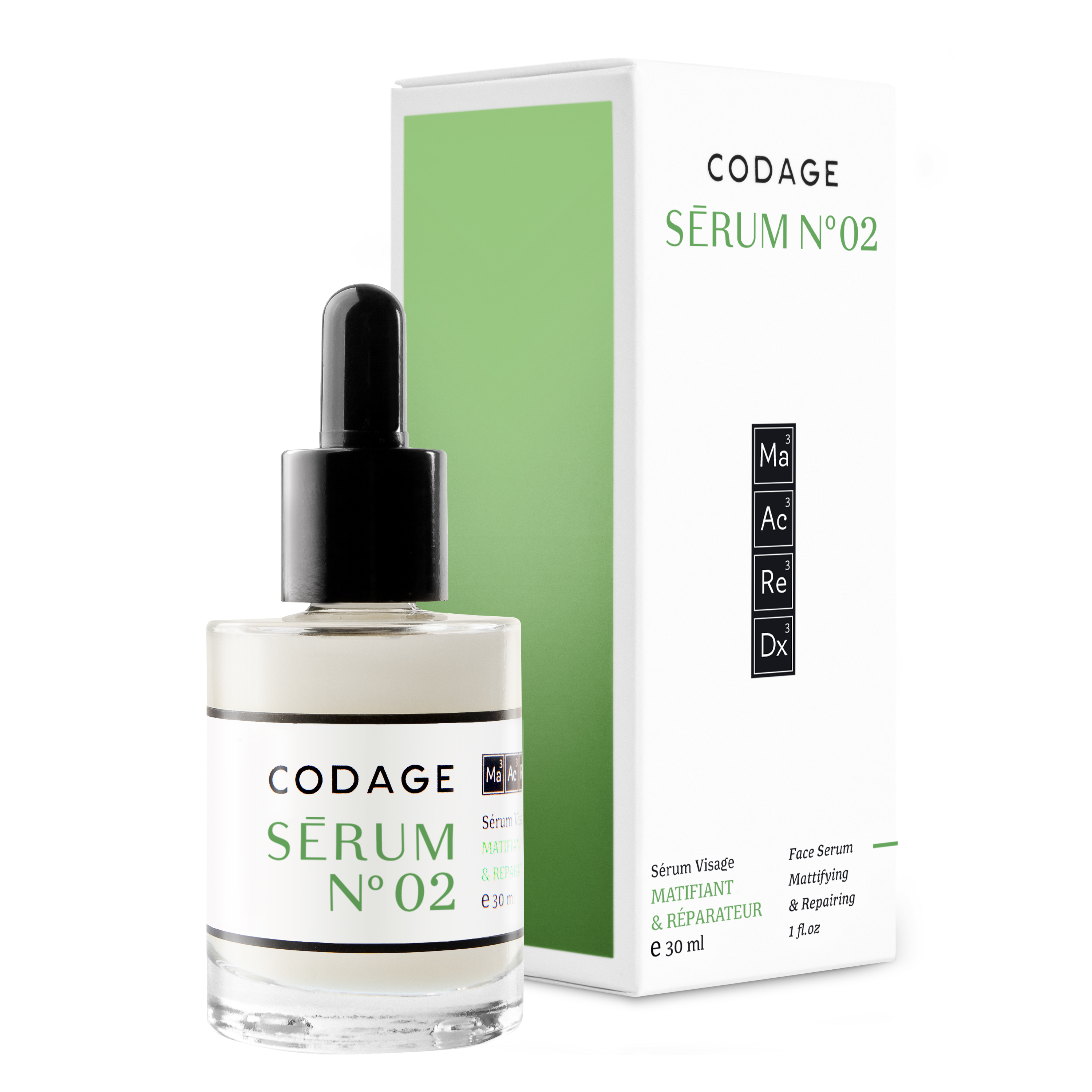 Serum n°2 Mattifying and Skin Repair