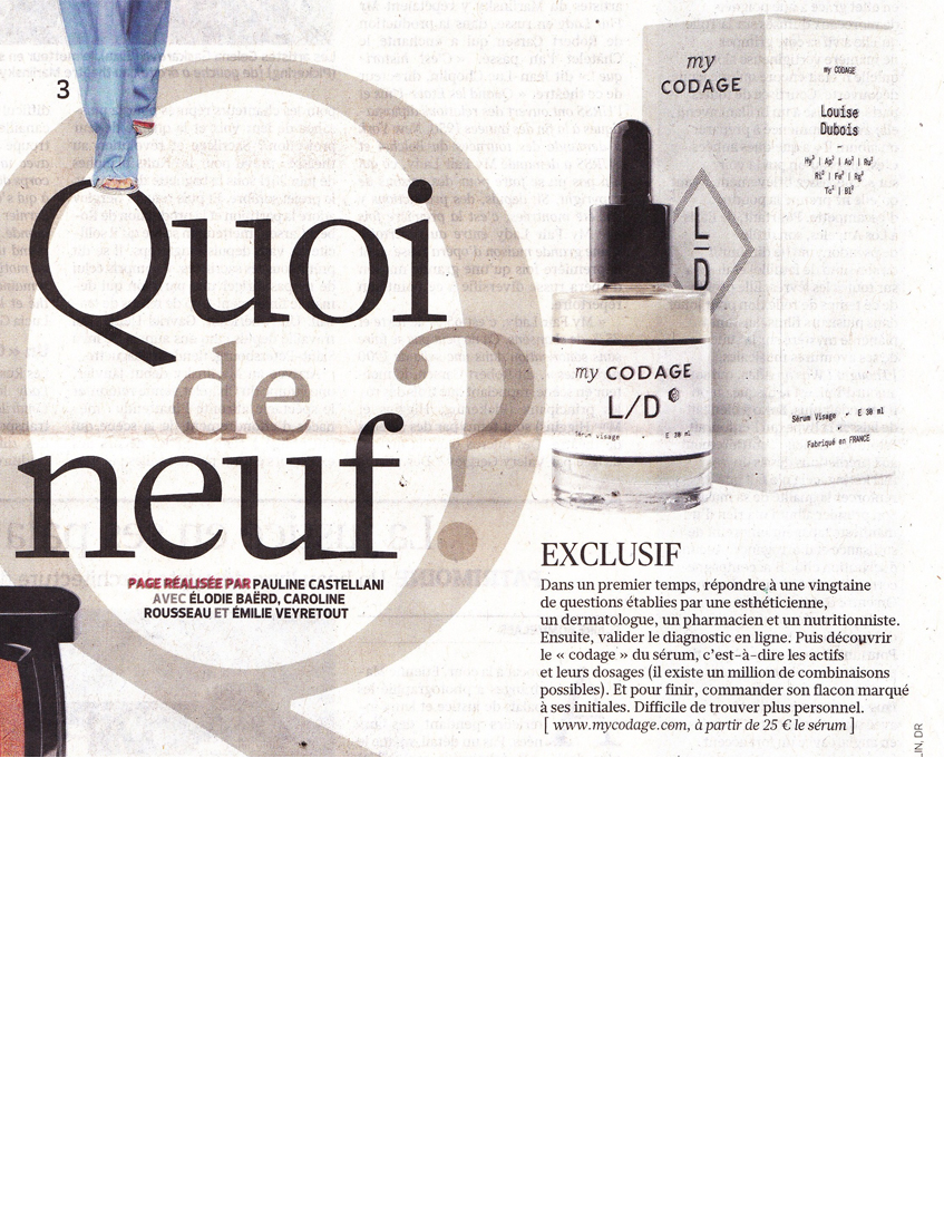 CODAGE est dans le Figaro